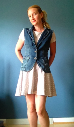 Anthropologie Inspired DIY Lace Denim Vest - Pic Front