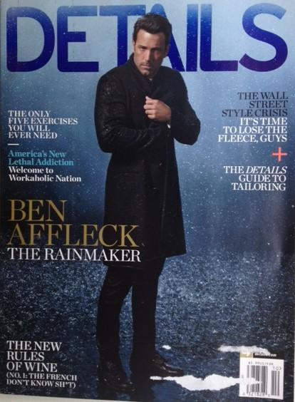 Ben Affleck Details Magazine Cover October 2014