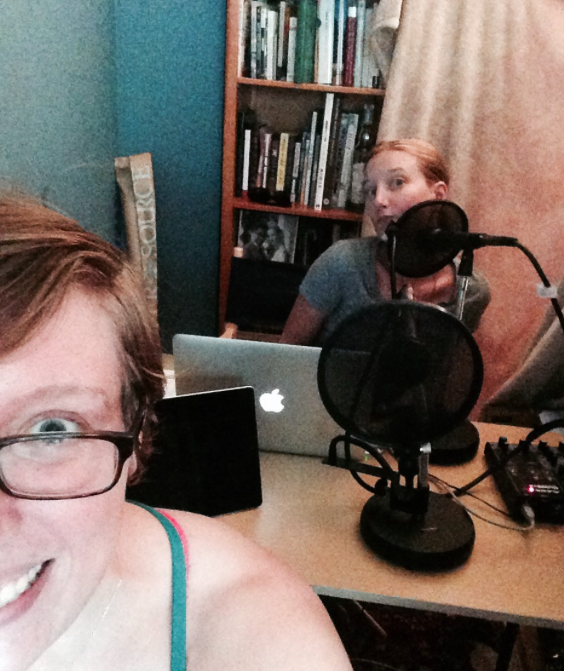 Podcasting in a Blanket Fort! This is what happens every week, ya'll!