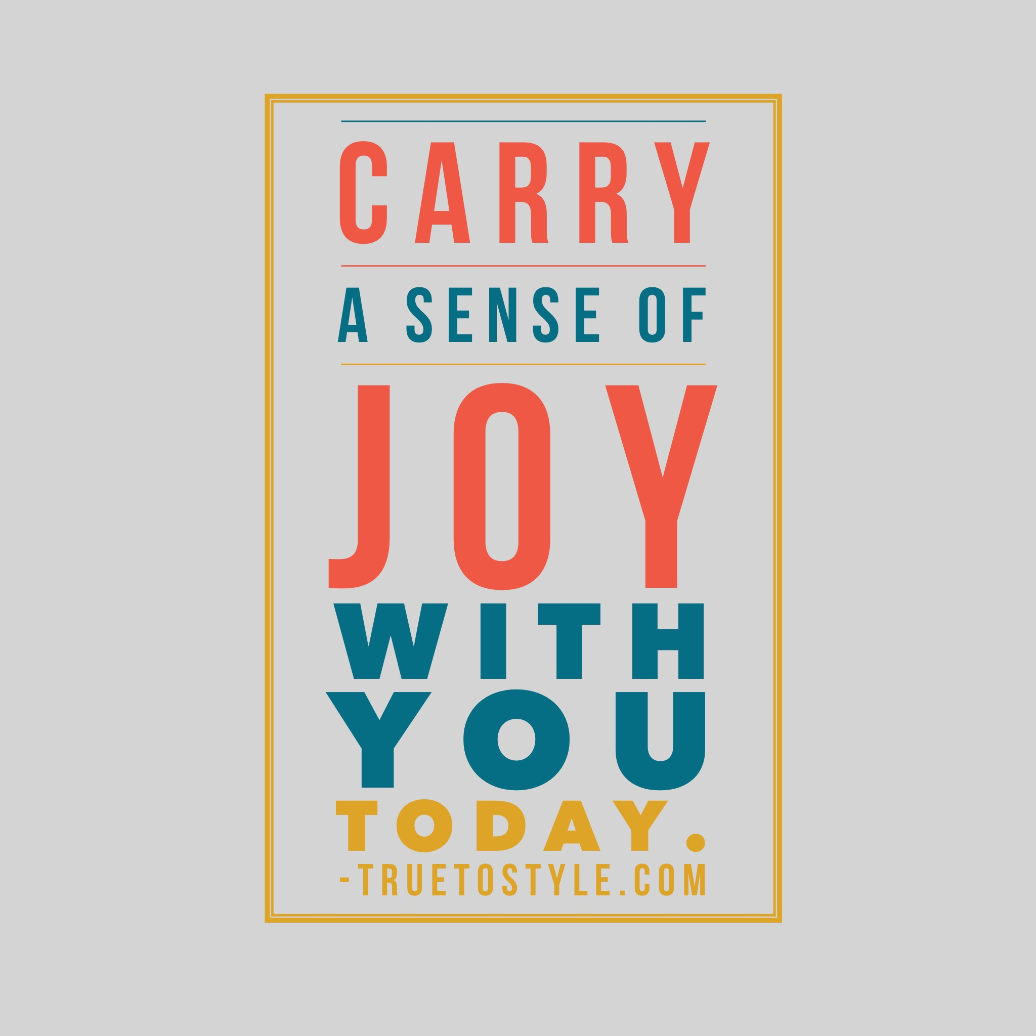Carry Joy With You Challenge