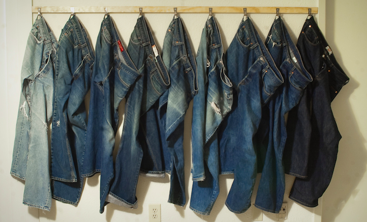Jeans in a Row