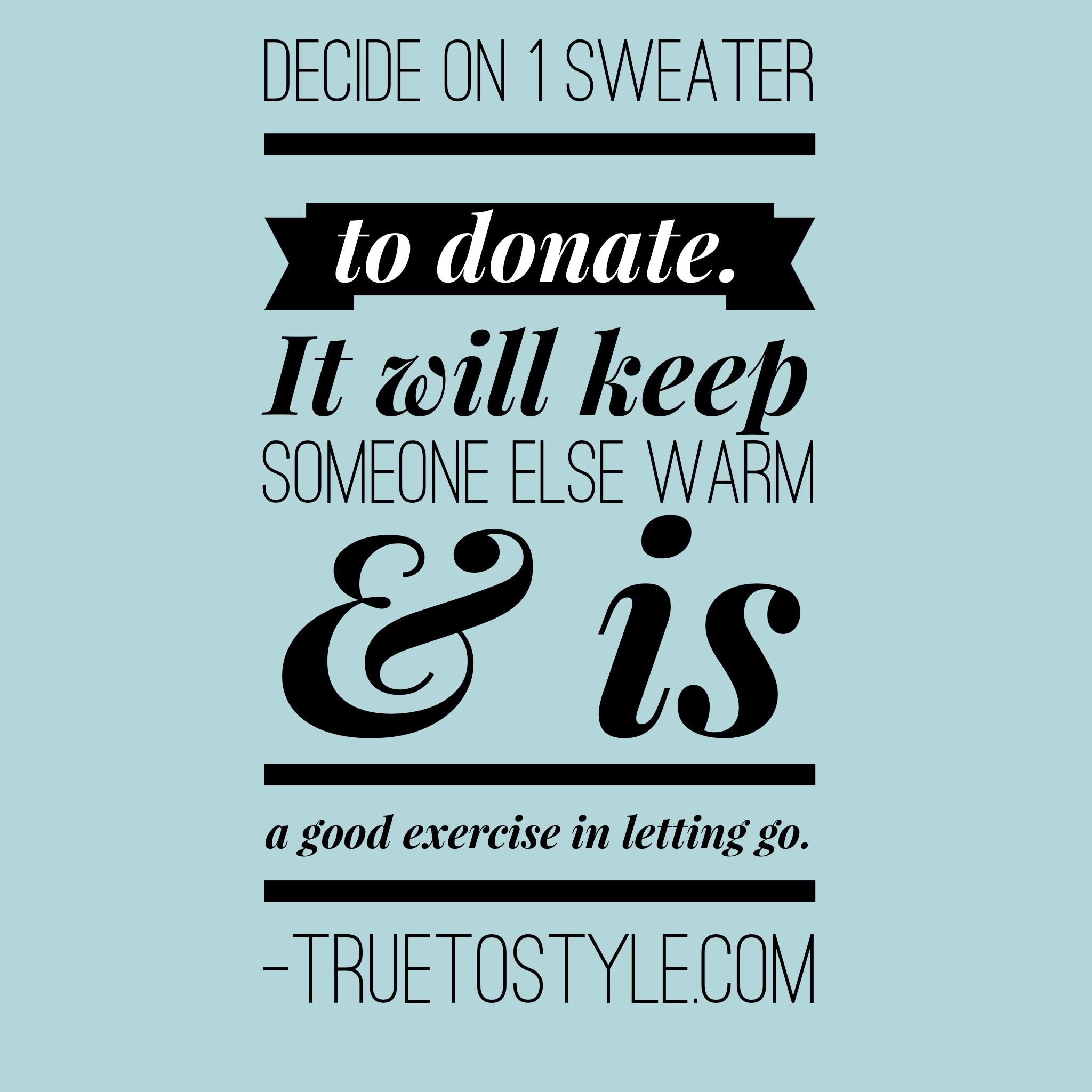 Donate 1 Sweater Challenge