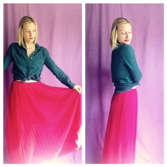 How to Pair a Bright Skirt