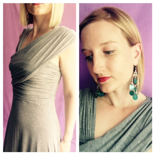 Outfit of the Day - Grey Dress Close Up