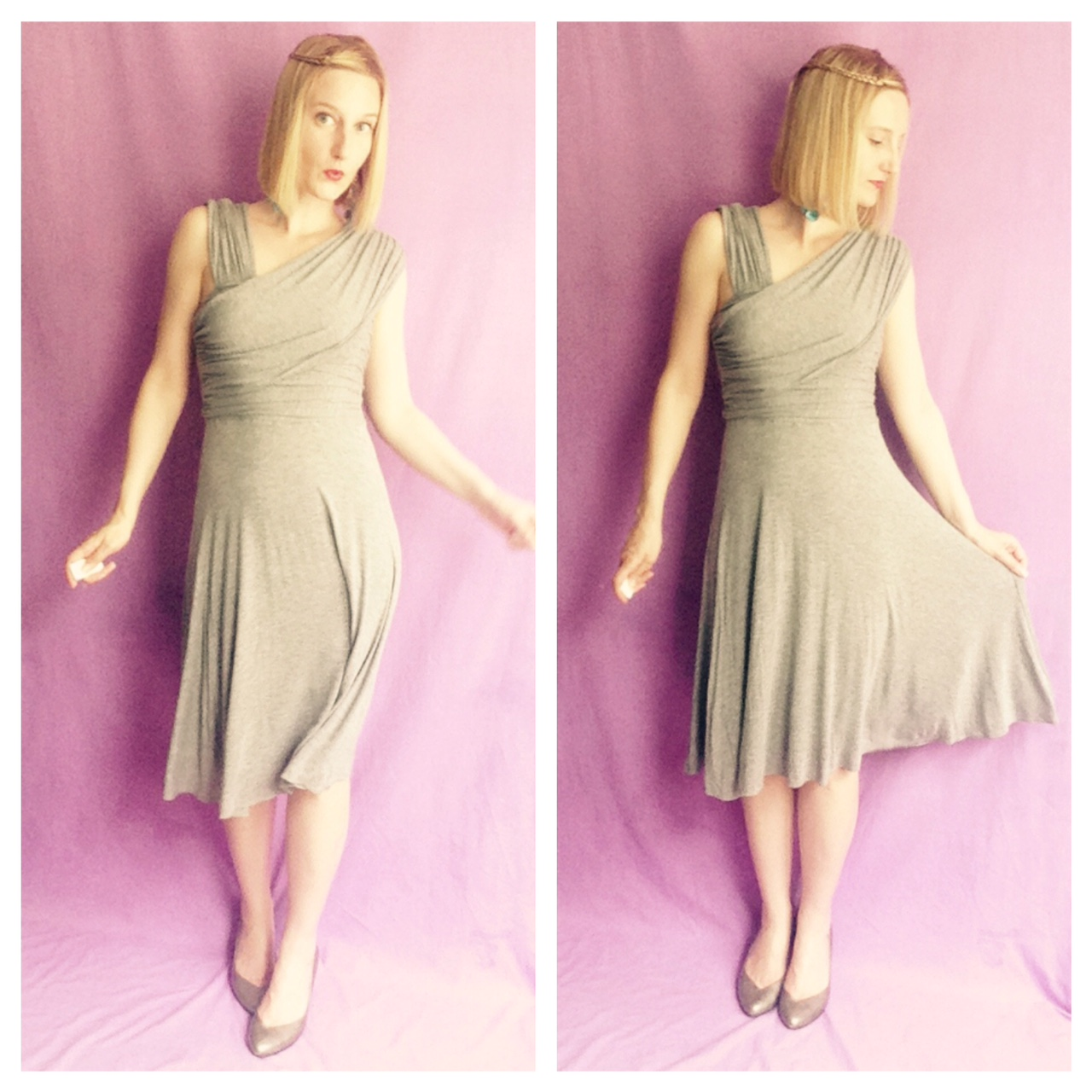 Outfit of the Day - Grey Dress