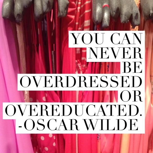 Oscar Wilde Fashion Quote