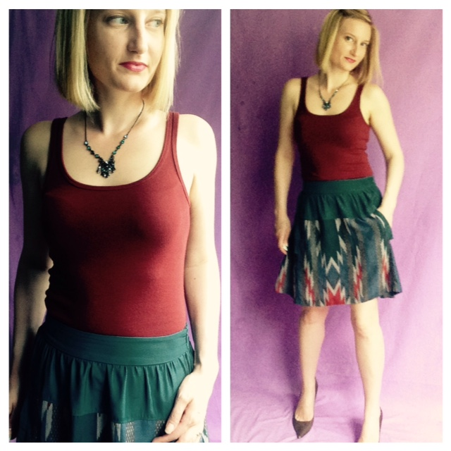Outfit Combination: Tank Top and Skirt