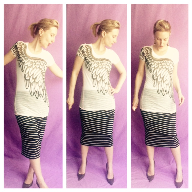 Outfit of the Day - Mixing Stripes and a Graphic T-Shirt