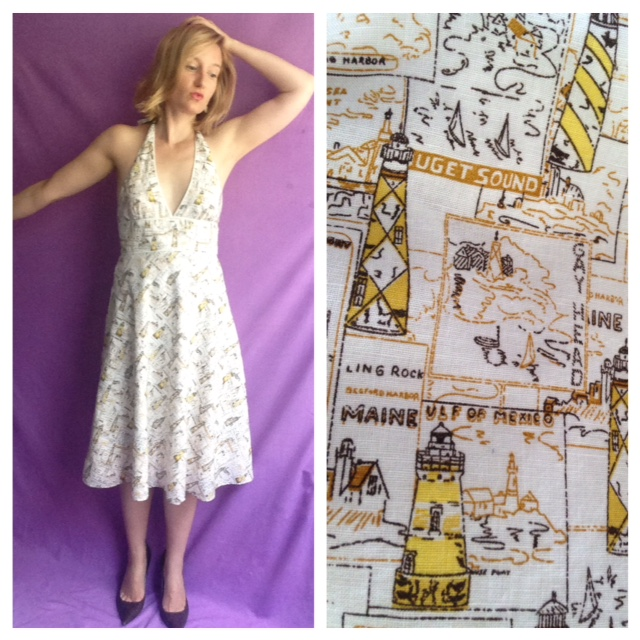 Outfit of the Day - JCrew Lighthouse Dress