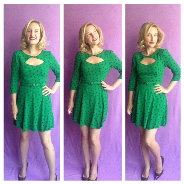 Transitional Season Clothing -Green Bow Outfit