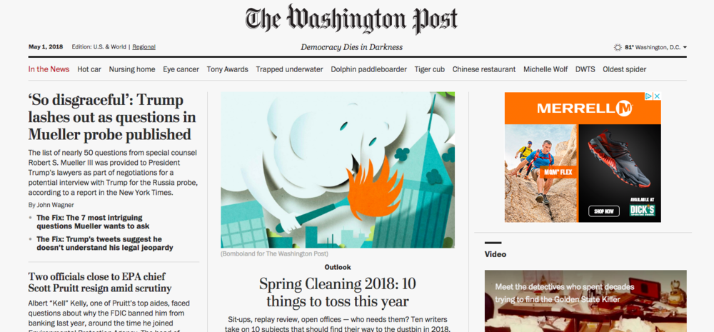 The Washington Post - Spring Cleaning 2018