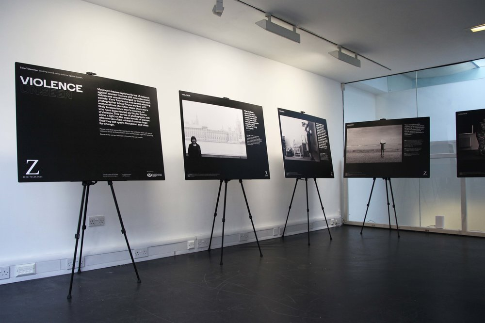 Image: Violence Unseen installation at Stills Edinburgh, Courtesy of Stills