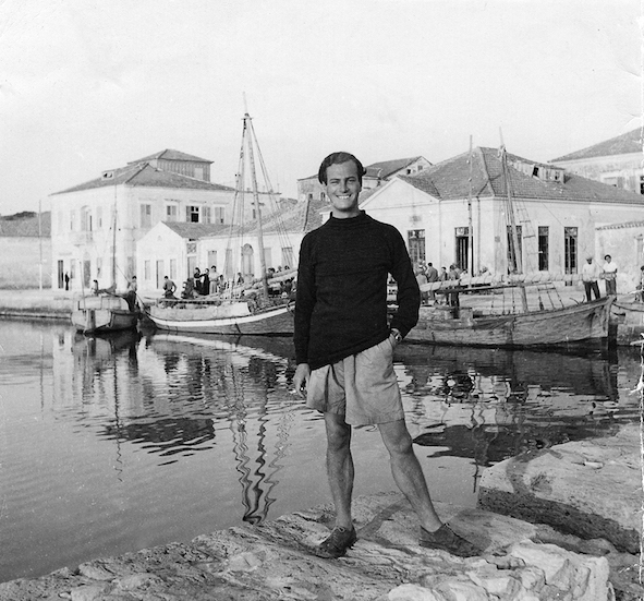 Paddy in Ithaca in 1946, photographed by Joan Leigh Fermor.