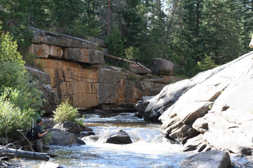 Sean McFeely Fly-fishing on the Cache La Poudre River in Colorado