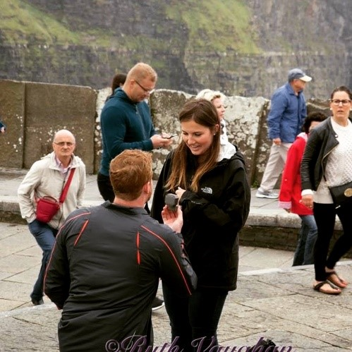 Colton, Angi's son, proposing to Gabrielle in Ireland in June.