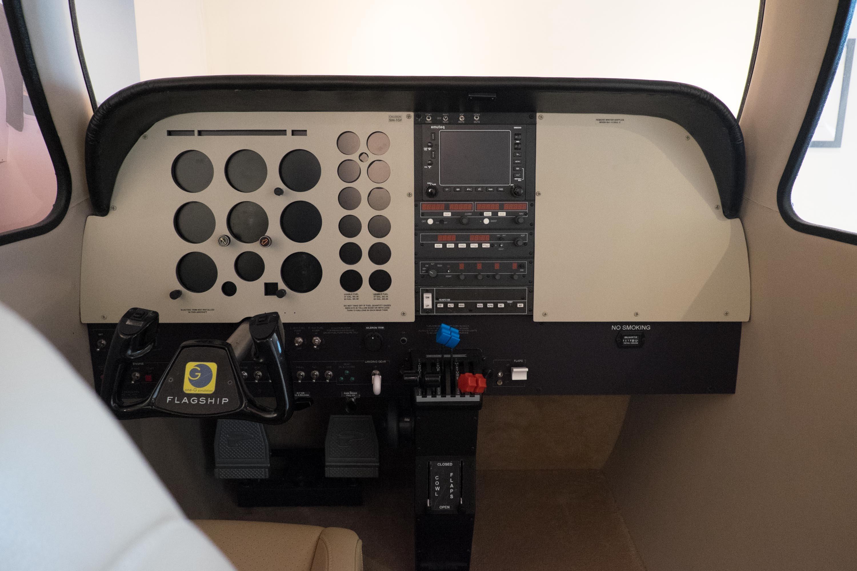 first plane cockpit