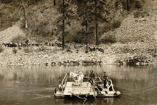 William Campbell's Ferry to haul livestock and goods in 1900