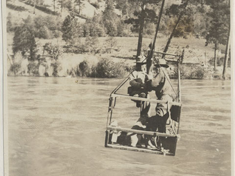 A few cable cars are common on the river to pull residents across.
