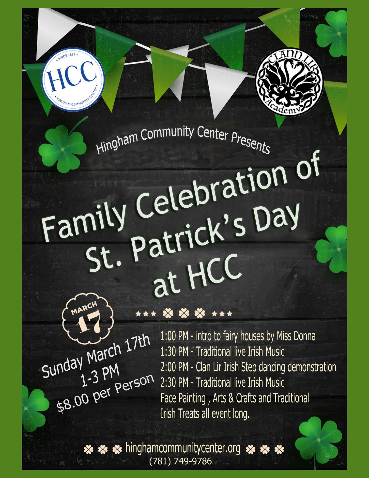St  Patrick's Day Family Celebration! — HCC