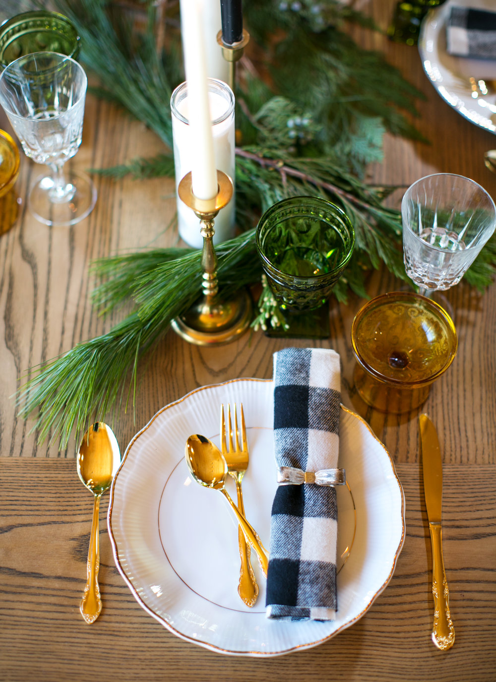 Christmas tablescape vintage rental