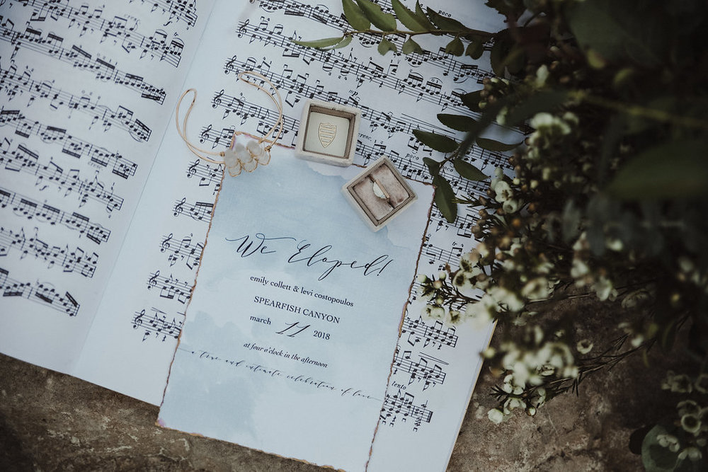musical black hills elopement