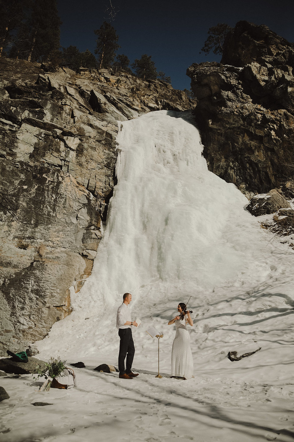ice + song winter elopement