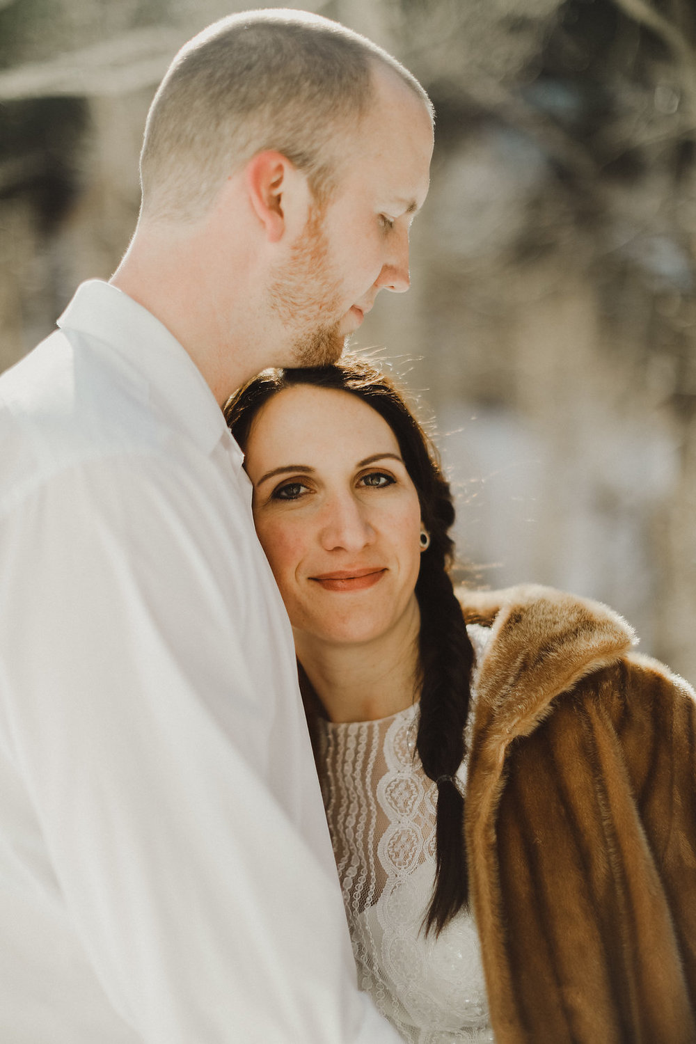 winter elopement