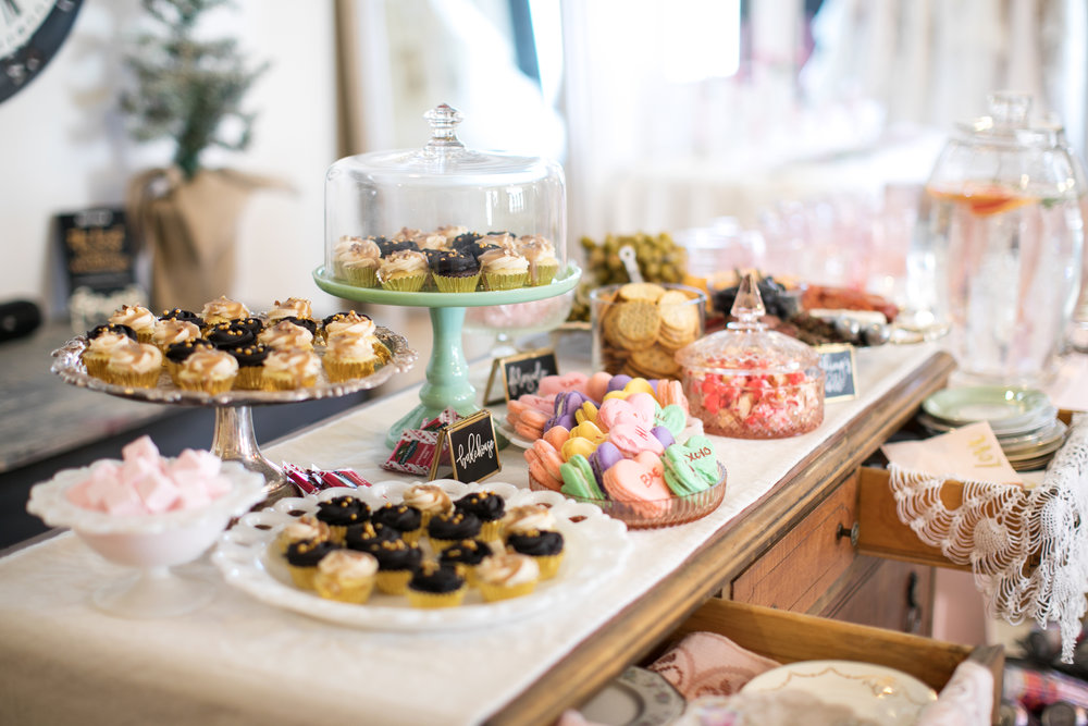 bridal shower buffet