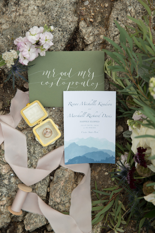elopement invitation suite