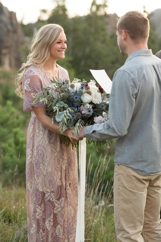 Black Hills elopement wedding