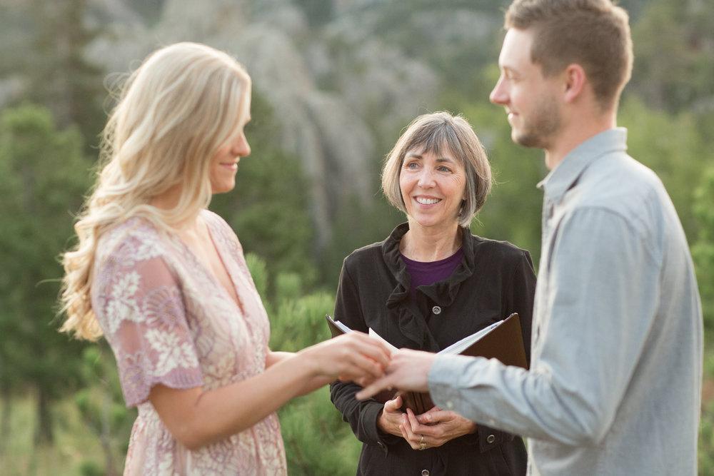 sunrise Black Hills elopement wedding
