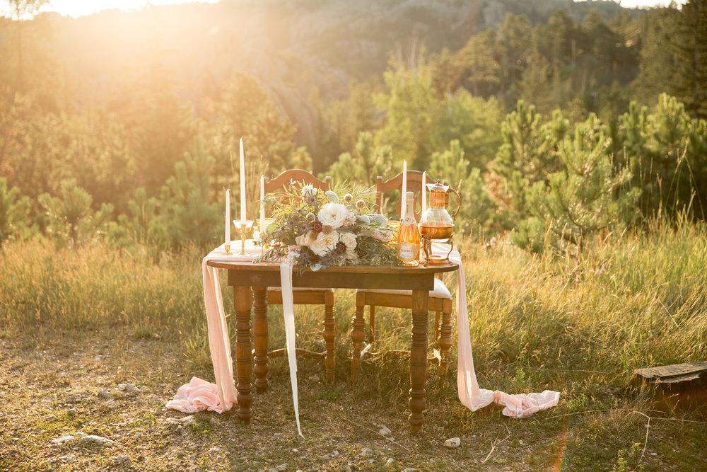 sunrise Black Hills elopement