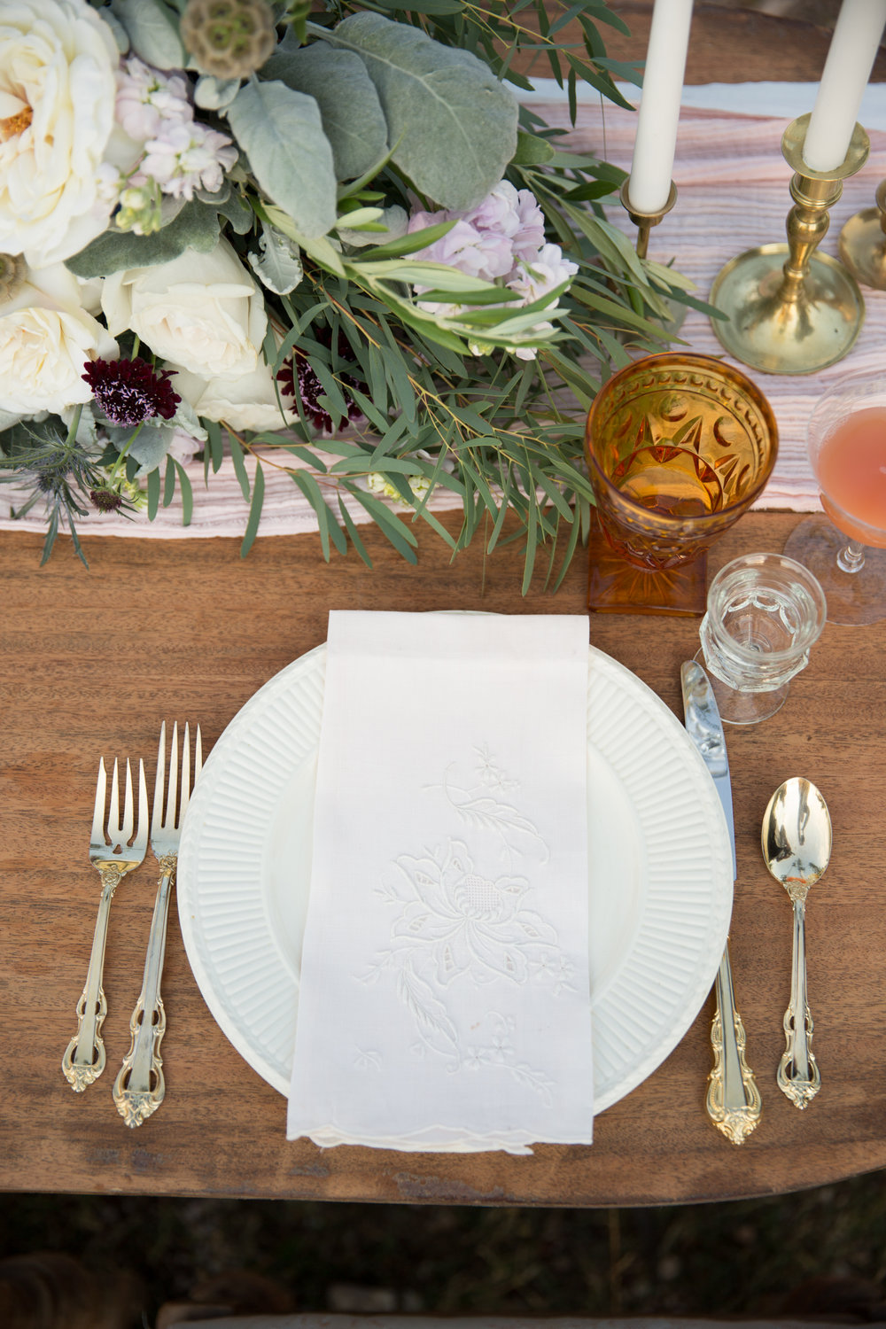 brunch wedding tablescape