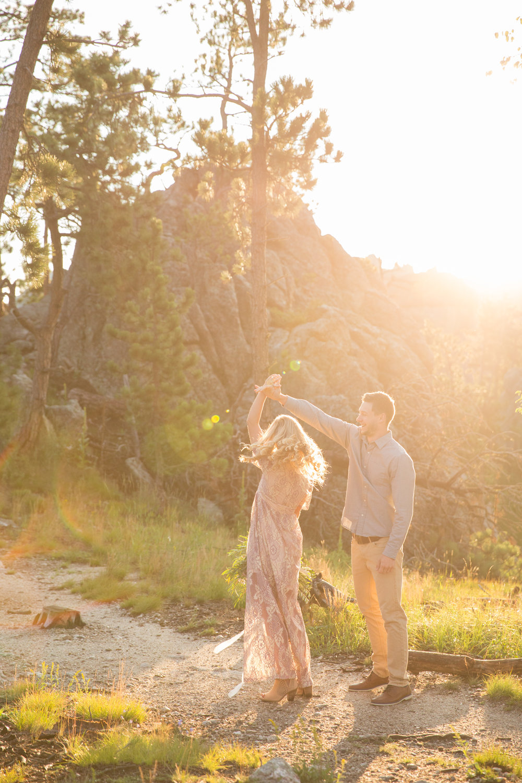 sunrise clifftop elopement