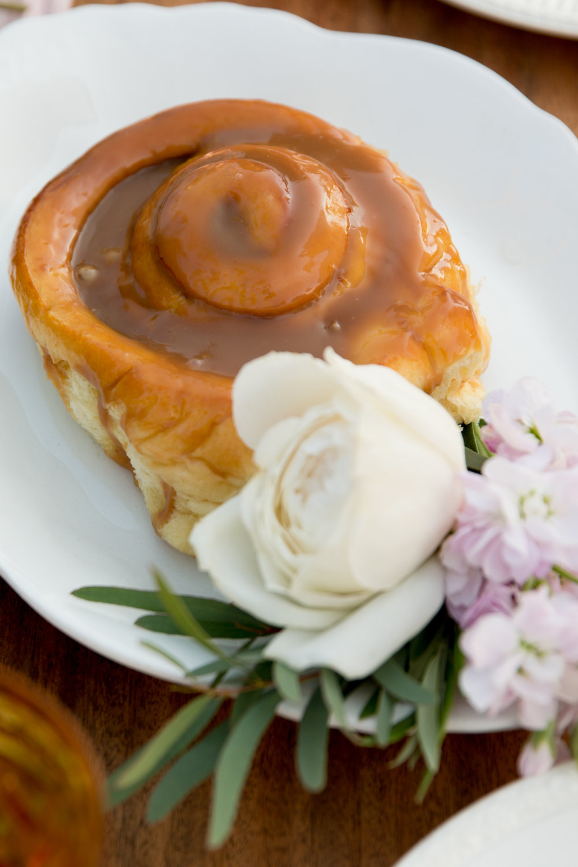 brunch wedding caramel roll cake