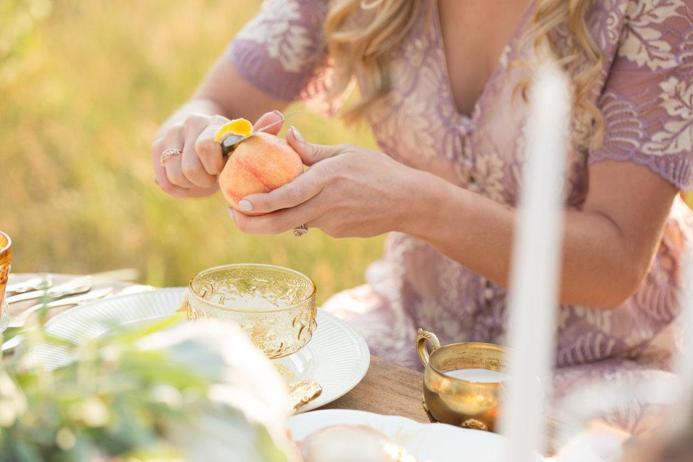 peaches and cream elopement