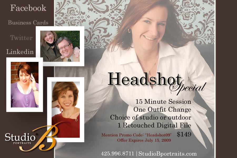 professional headshots at studio b portraits is issaquah near seattle