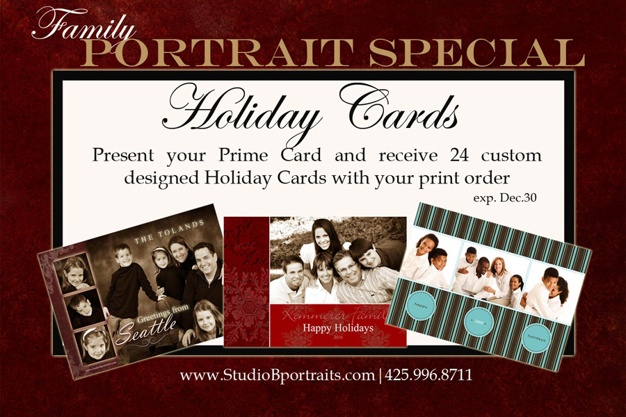 microsoft prime card hot offer for studio b portraits holiday cards