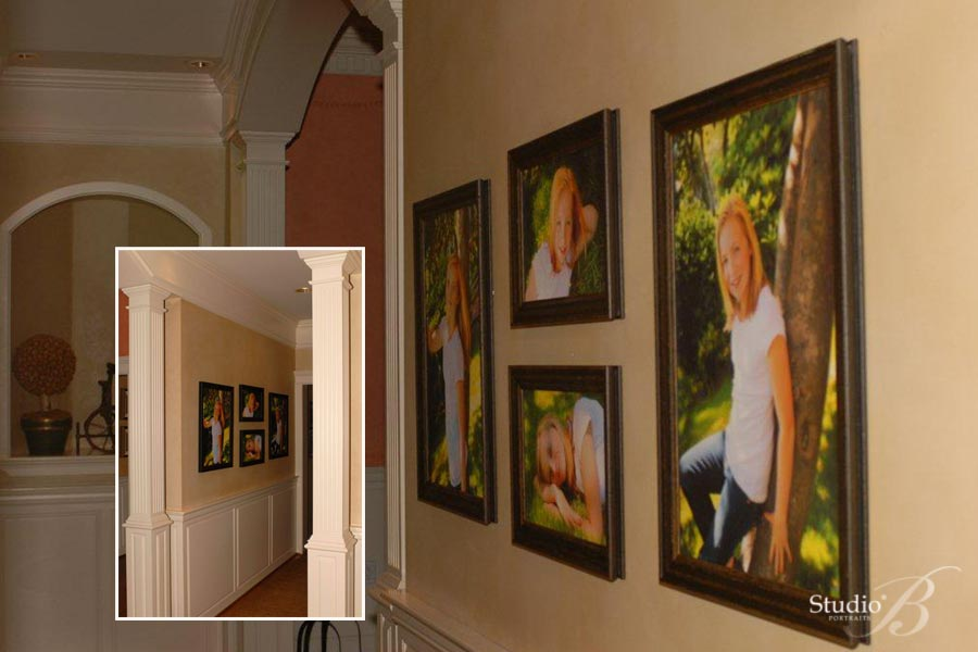 decorating with photographic art at studio b portraits