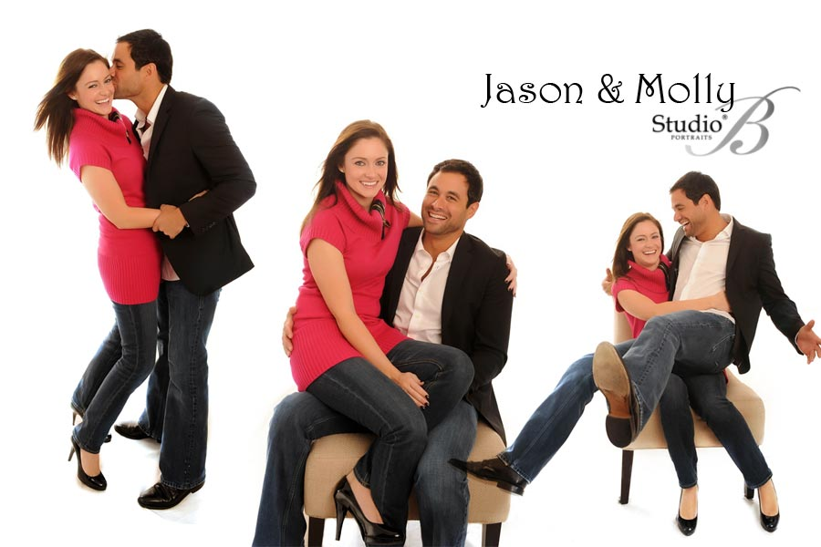 abc the bachelor jason mesnick and molley malaney photographed at Studio B Portraits