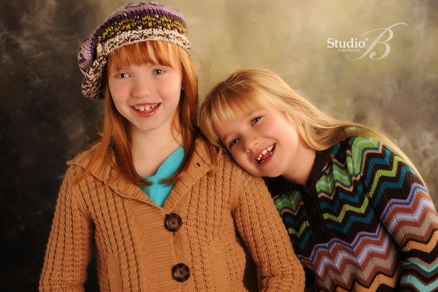child holiday family portraits at Studio B in Issaquah