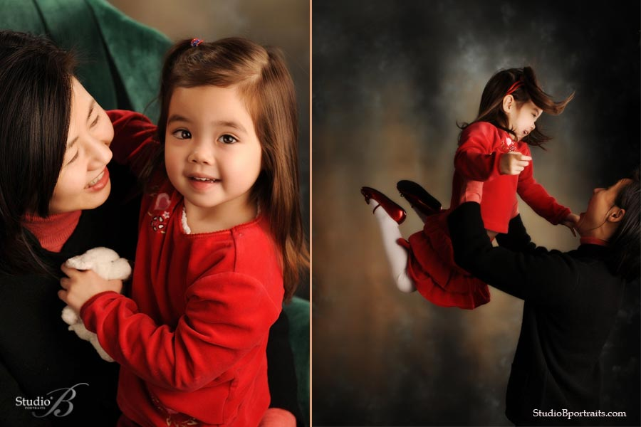 Holiday child portrait at Studio B Portraits in Issaquah