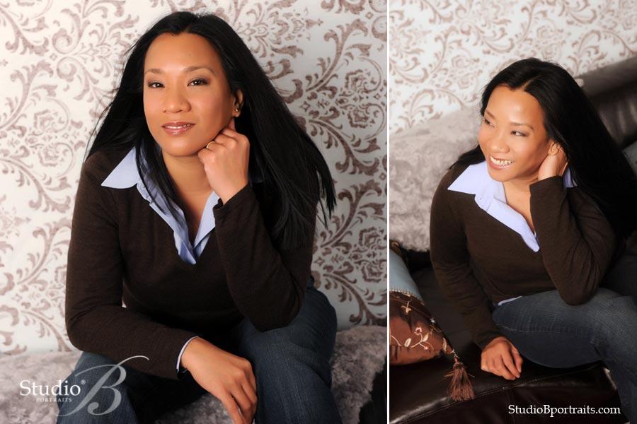 headshot portfolio portrait session at Studio B Portraits in Issaquah