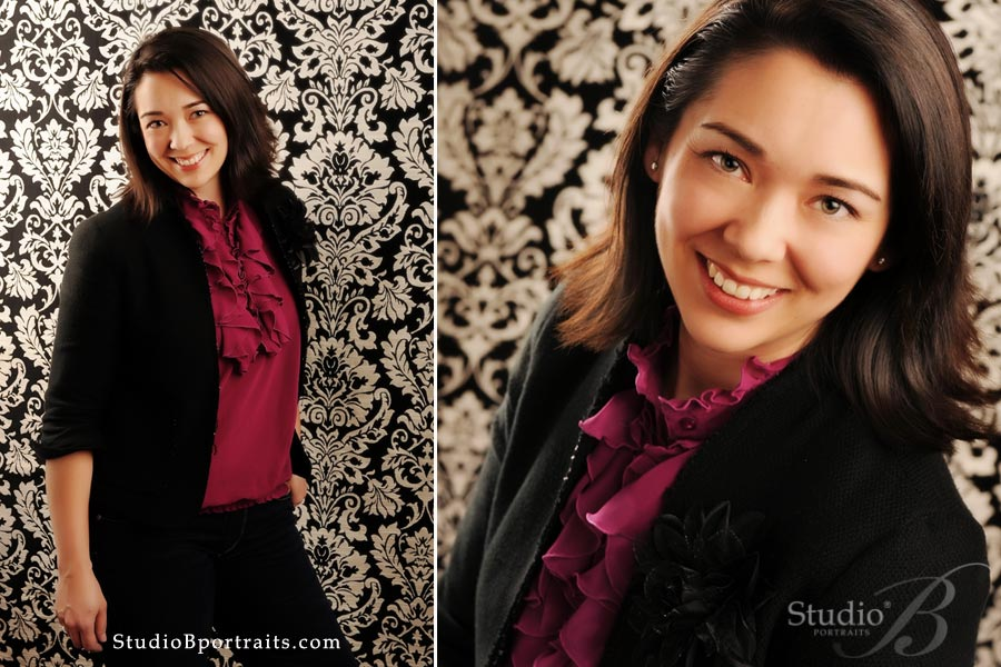Owner of Chic Ink Heather Hildebrant photographed at Studio B Portraits