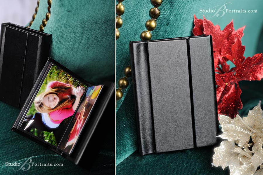 The Little black book petite wallet album at Studio B Portraits in Issaquah