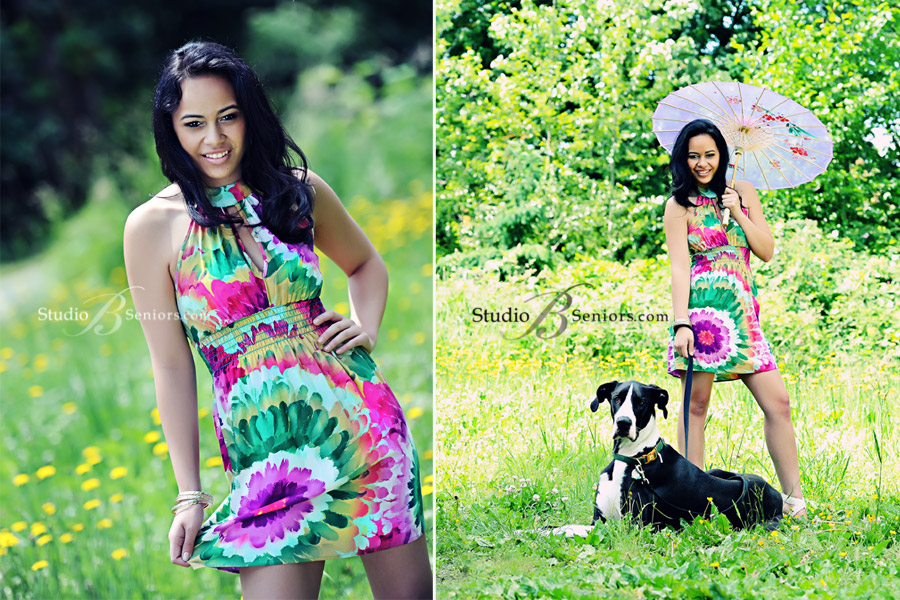 High-School-Senior-Pictures-photographed-as-a-professional-model-photo-shoot-at-Studio-B-in-Issaquah-featuring-Eastlake-Sammamish-teenage-girl with Great Dane dog