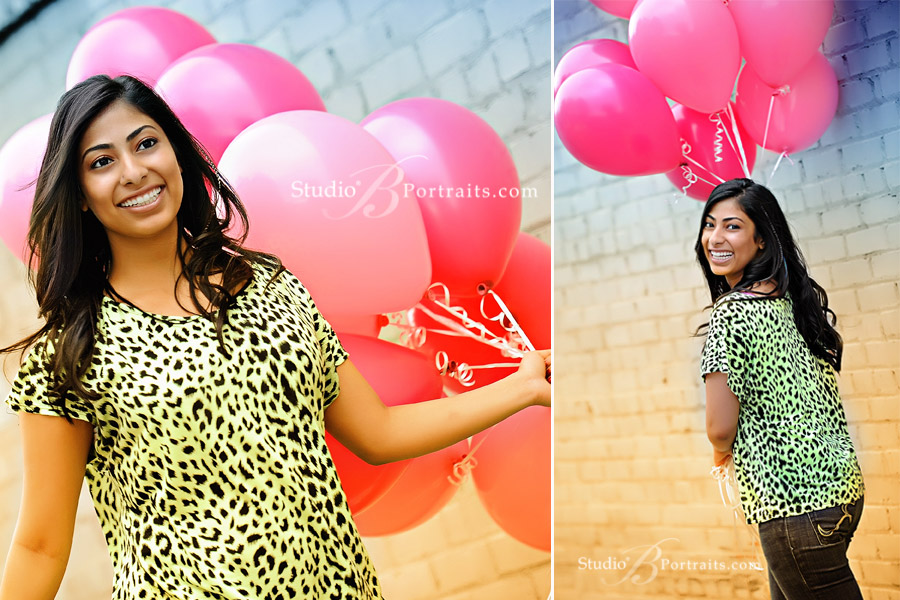 Fun-Skyline-High-School-senior-pictures-with-teen-girl-and-balloons-outdoors-in-Issaquah