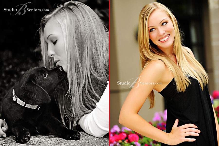 Senior-pictures-with-puppy-in-Bellevue-photographed-by-Studio-B-Portraits