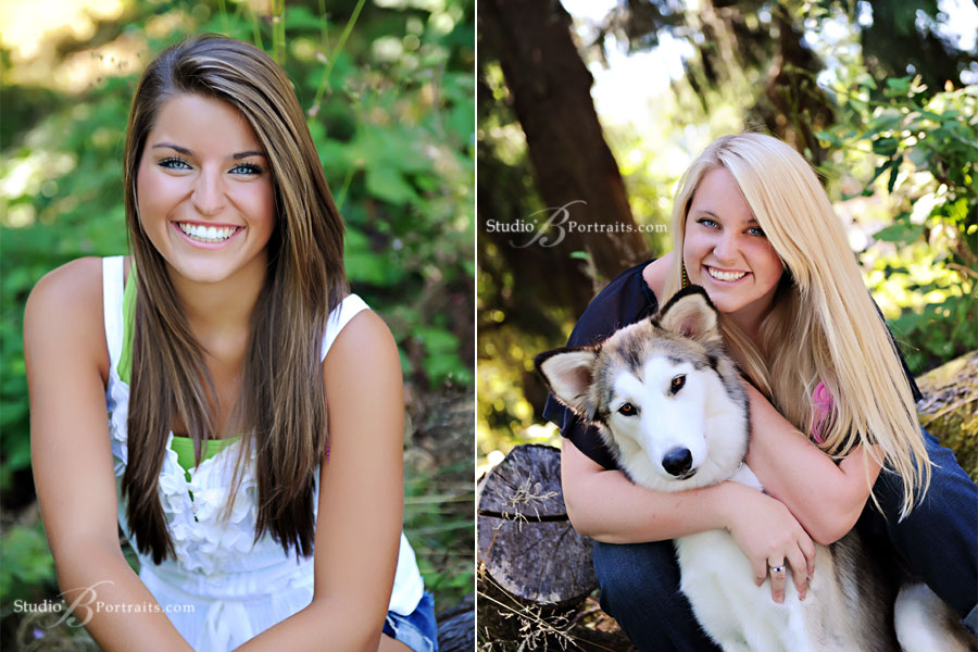 Teen-Family-portraits-in-Issaquah with a Husky dog