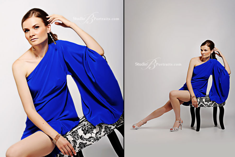 Model-portfolio-shoot-of-Lithuanian-female-in-fashion-blue-dress-at-studio-in-Issaquah